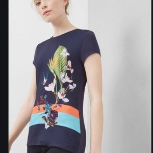 Ted Baker London Tropical Oasis Fitted Tee 5